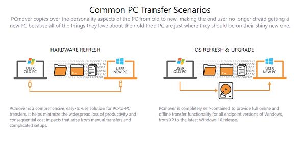 PCmover Express cho phép bạn di chuyển từ Windows 7 sang Windows 10