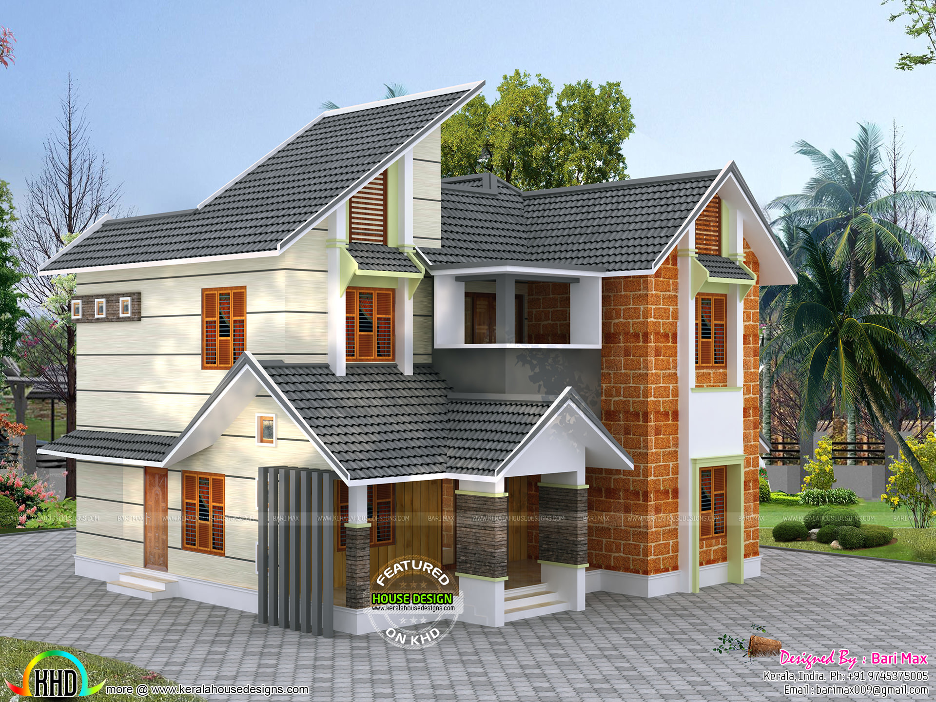 Height Of A House Kerala Style Mix Modern Double Height House Kerala Home