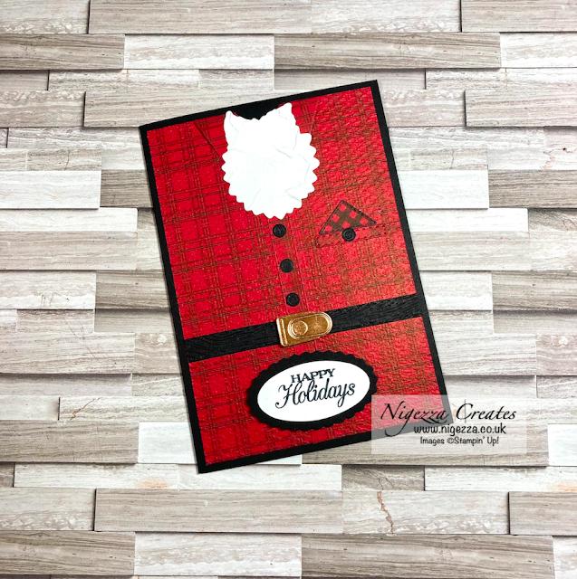 Santa In His PJs Fun Christmas Card