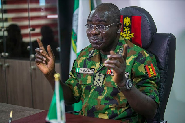 Buratai claims ICC probe against Nigerian security forces will affect internal security