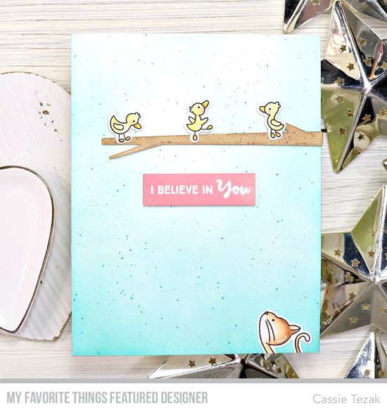 Handmade card by Cassie Tezak featuring products from My Favorite Things #mftstamps