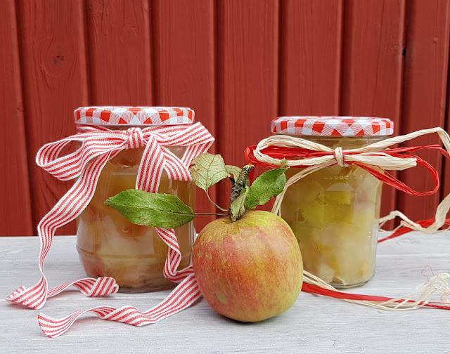 Rezept: Dänisches Apfelkompott zubereiten. Es ist Apfelzeit und Kompott schmeckt so lecker!