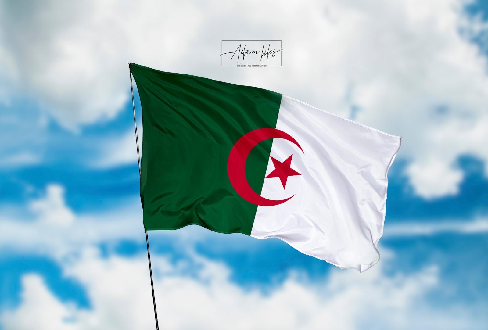 علم الجزائر رائعة