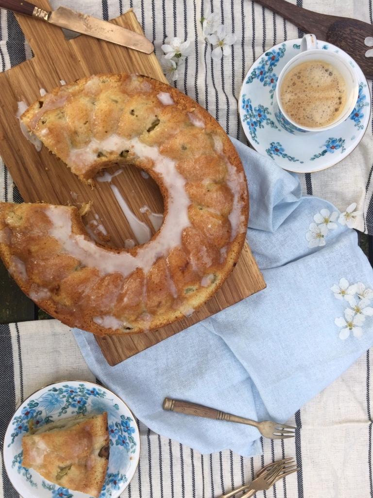 Rhabarber Buttermilch Kuchen Rhubarb Buttermilk Cake Deutsch