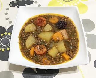 Lentils stewed in Crock Pot