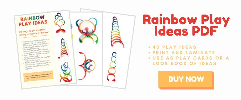 buy rainbow play ideas pdf from etsy