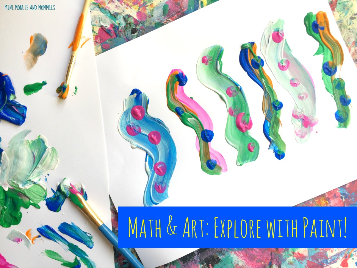 Mini Monets and Mommies: Pattern Play: Kids\' Math and Art Activity
