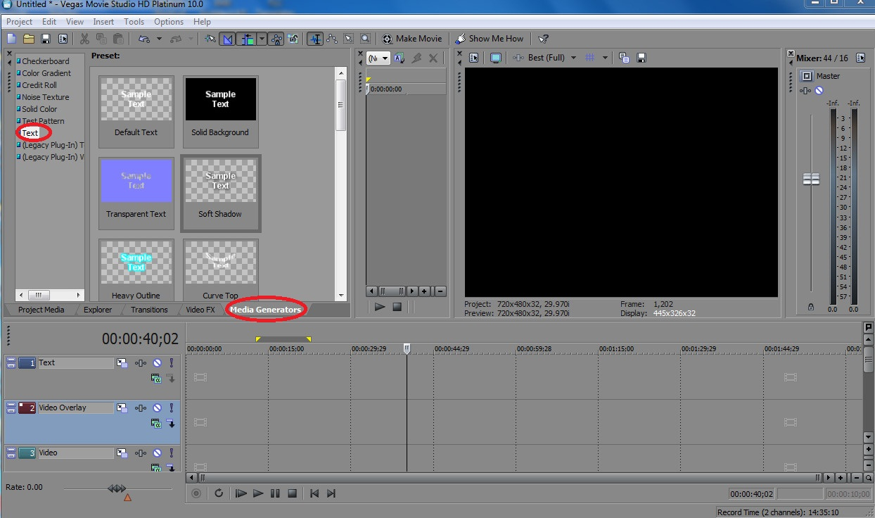 Membuat Running Text Menggunakan Sony Vegas Movie Studio