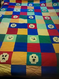 ProsperityStuff Lego Heads Quilt