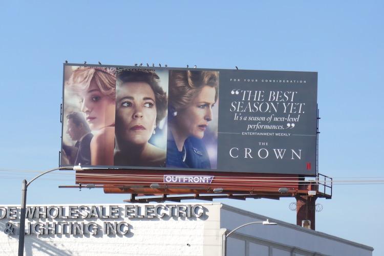 Crown season 4 FYC billboard