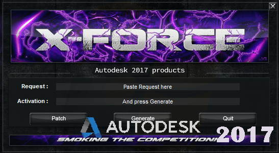 Activate Autodesk Products 2017 (X-Force Keygen) Full Free