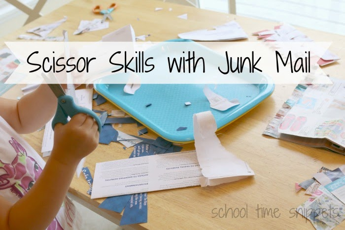 creative scissor skills activity