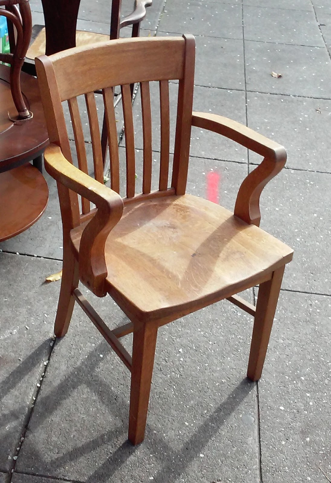 Wood Bankers Chair Uhuru Furniture And Collectibles Sold Mission Oak Wood