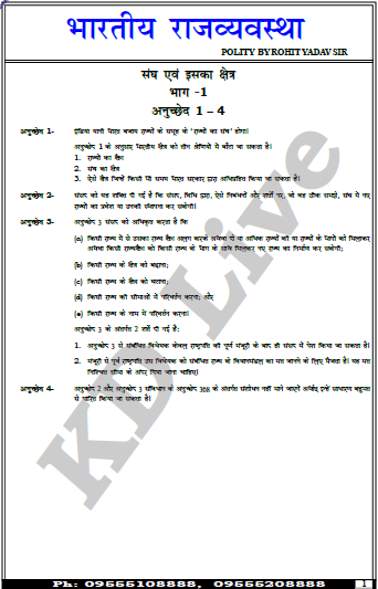 Indian Polity By Rohit Yadav Sir : For UPSC Exam Hindi PDF Book