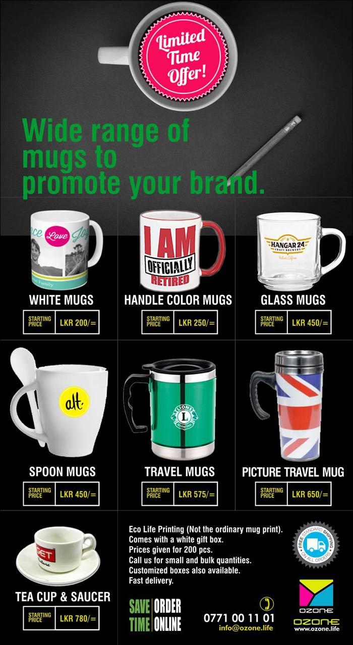 Ozone Branding   Bulk mug Printing Special offer - Valid until 19/6/2017.