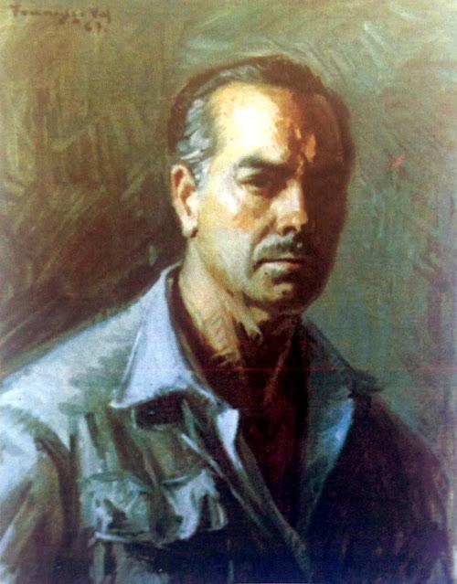 Francisco Val, Autorretrato, Pintor valenciano nacido en (Caudete ) Albacete, Pintura valenciana, Pilar Val,  Pintor Francisco Val, César Val