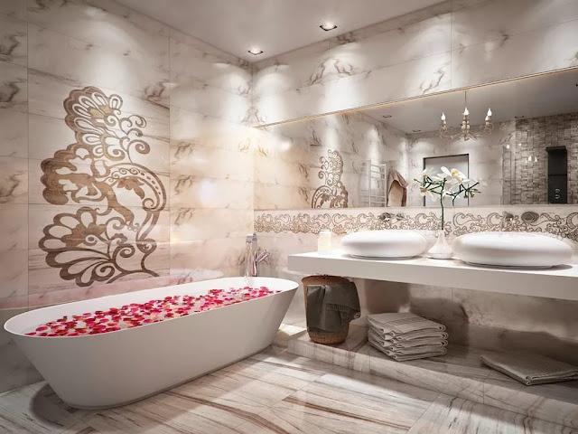 Phòng tắm đẹp lấy cảm hứng từ thời trang - 1