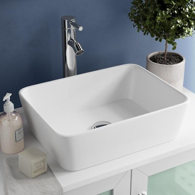 KCV-121-CH Ceramic Rectangular Vessel Bathroom Sink