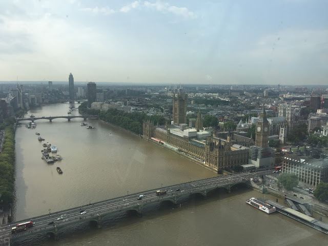 view of Big Ben from London Eye