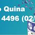 Resultado Quina - Concurso 4496 (02/10/17)