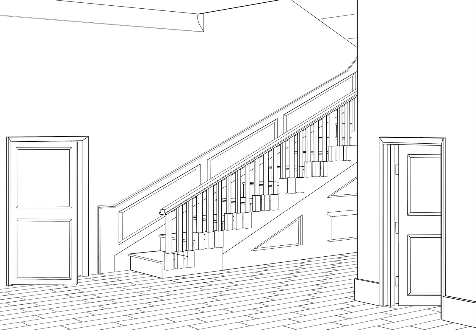 Basic Drawing 1 Drawing In 2 Point Perspective