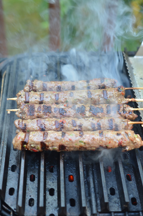 Cooking gryos on a PK Grill with GrillGrates