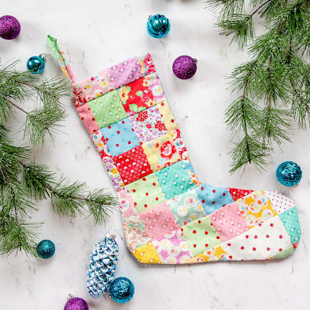 easy quilted christmas stocking