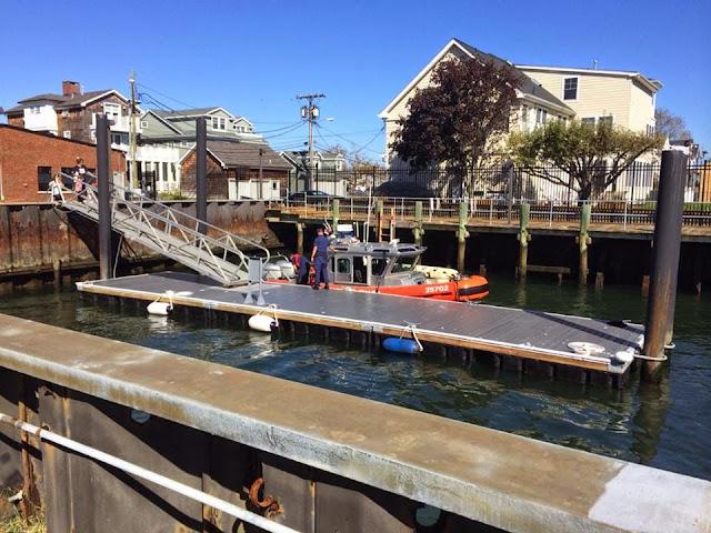 U.S. Coast Guard Station Shark River docks