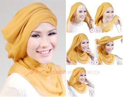 Tutorial Hijab Ala Zaskia Adya Mecca