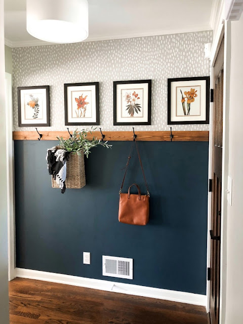 simple and affordable fall entryway