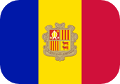 Rounded flag of Andorra