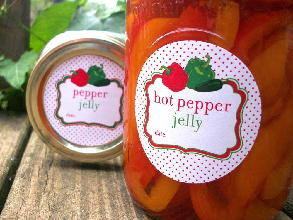 hot pepper jelly canning label