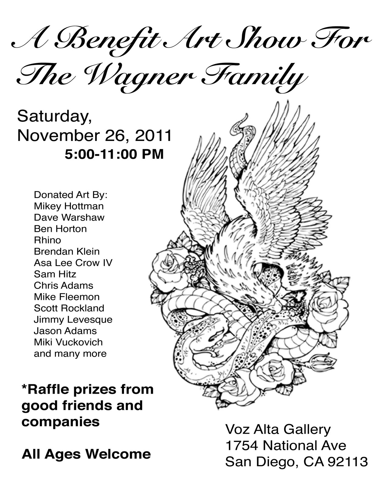 mikey hottman: Benefit Art Show for the Wagner Family