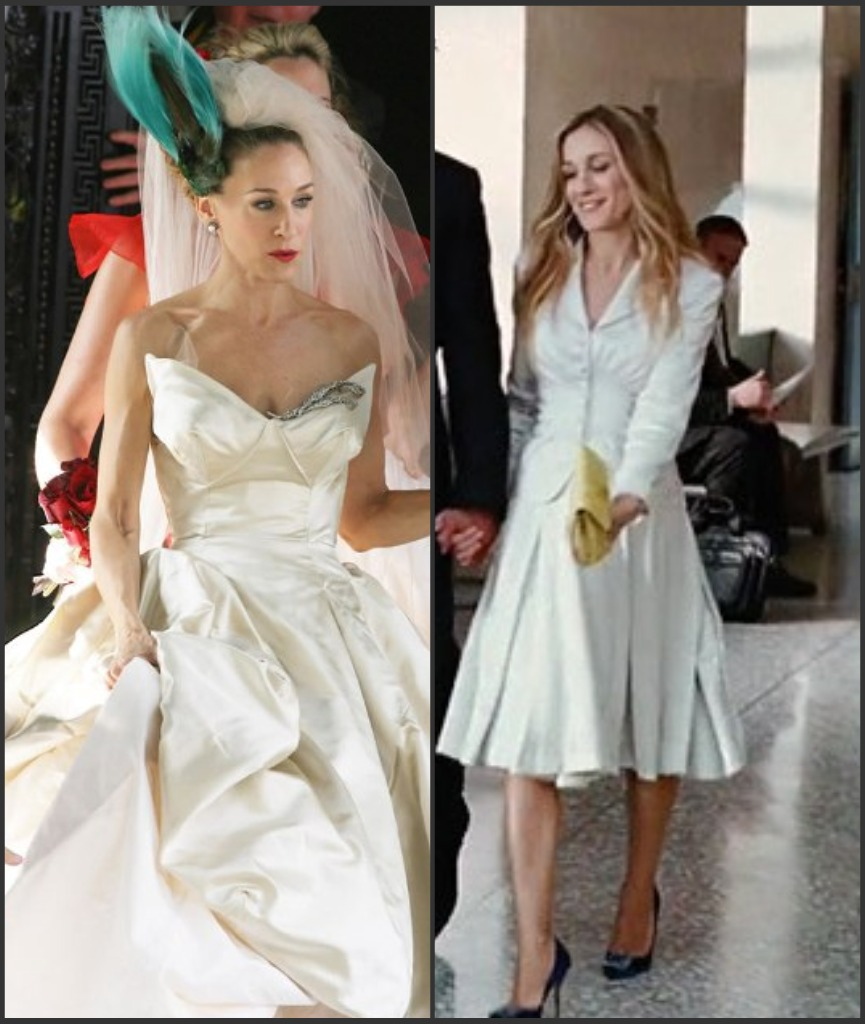 Perfect Carrie Bradshaw Wedding Suit Photo Colorful Dress