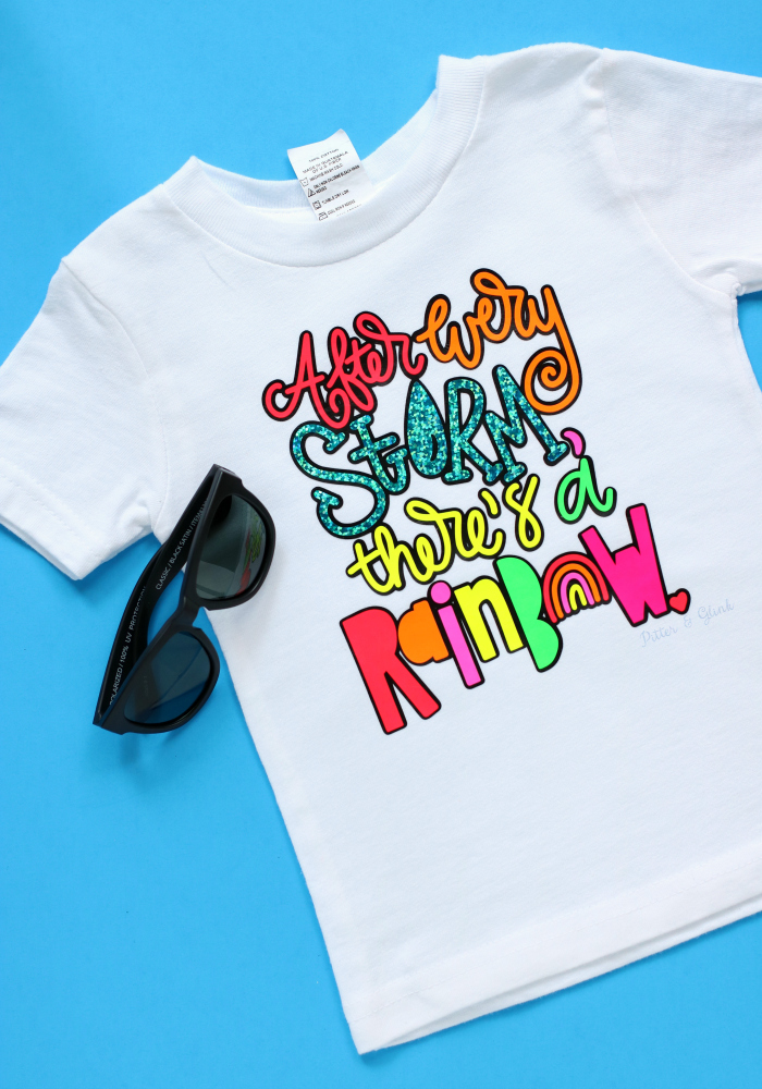 DIY Rainbow Quote T-shirt