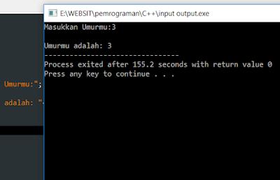 Tutorial Input dan Output pada Bahasa C++