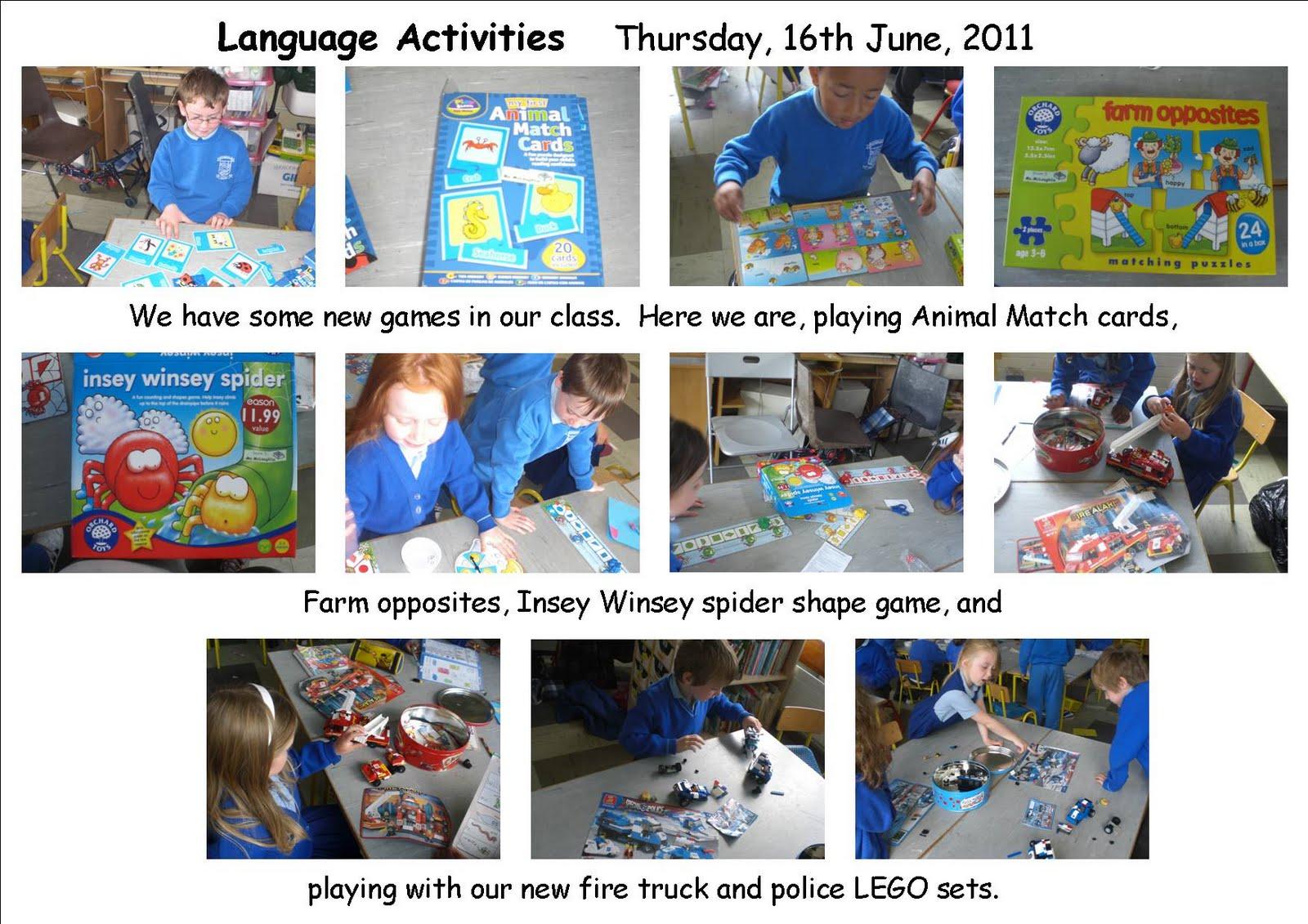 Literacy Site Language Activities In Senior Infants