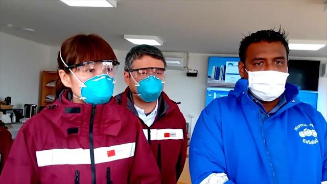 Chinos llegaron a Perú para apoyar en lucha contra coronavirus