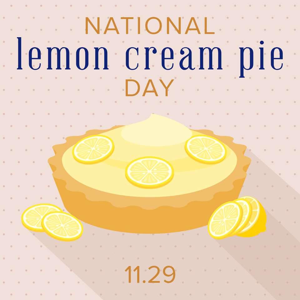 National Lemon Cream Pie Day Wishes Beautiful Image