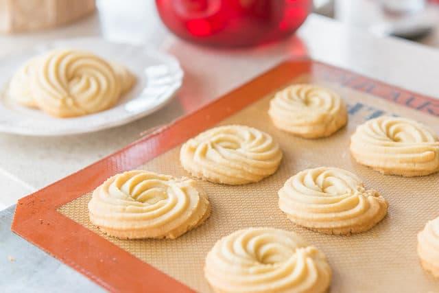 miniature Danish butter cookies