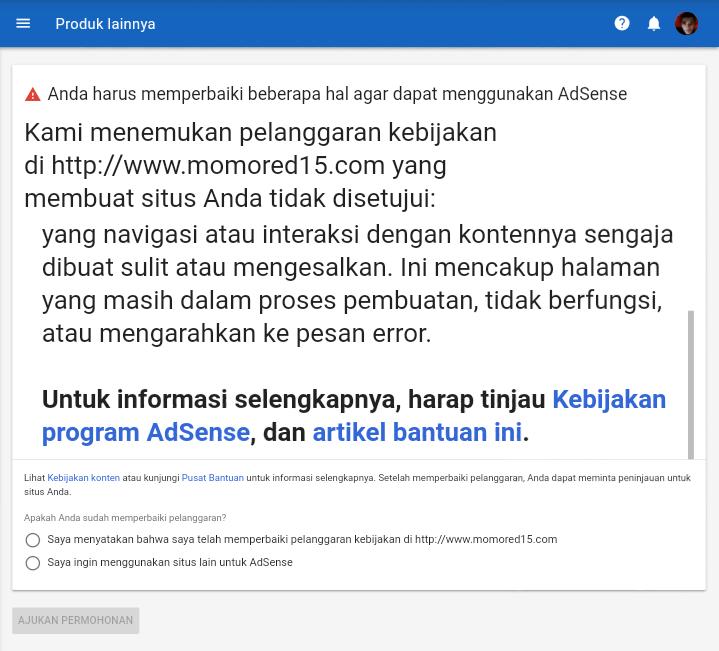 Cara upgrade google adsense biar cepat di terima di tahap review ke2