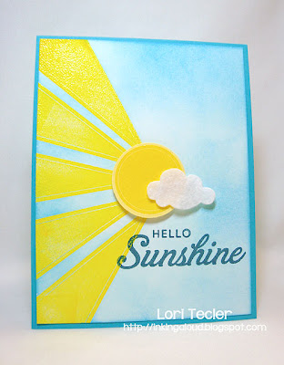 Hello Sunshine-designed by Lori Tecler-Inking Aloud-stamps from Papertrey Ink