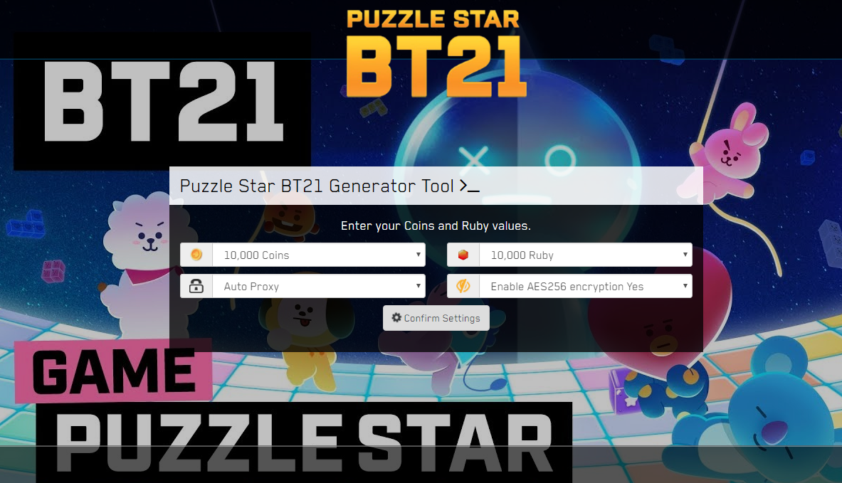 Puzzle Star BT21 Ruby Coins Hack iOS Android