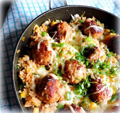 Turkey Meatballs and Lemon Rice