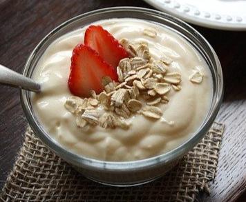 Yogurt strawberry homemade