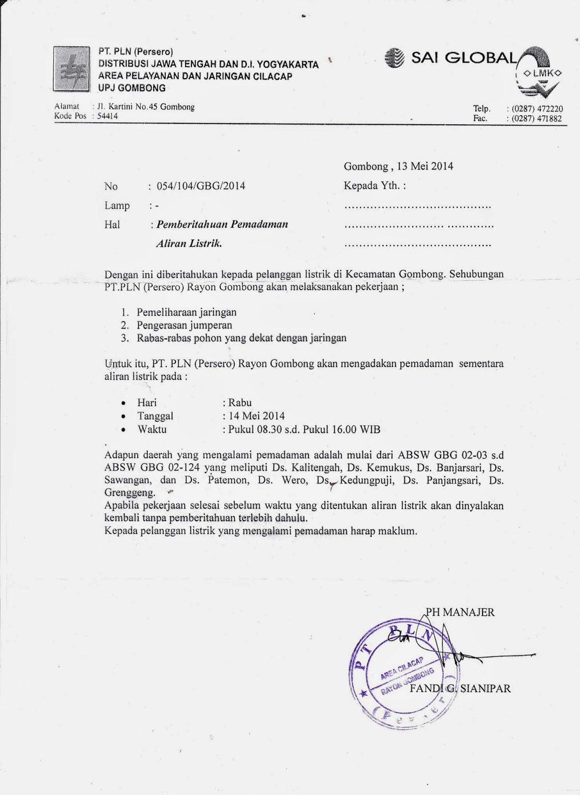 Juni Aminudin Info Pemadaman Listrik Wilayah Gombong 14