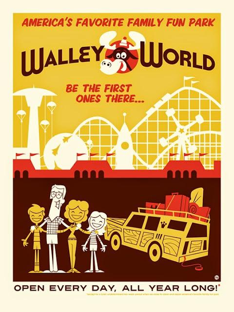 Walley World travel poster