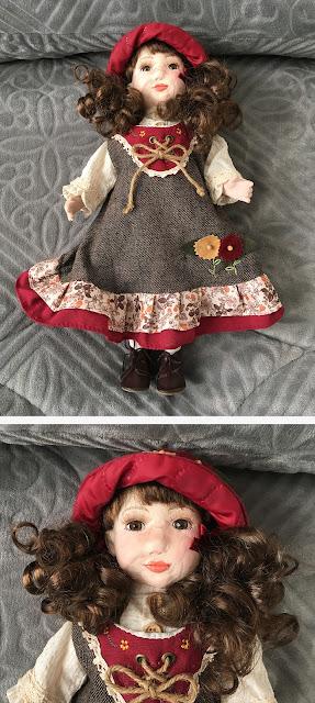boneca de porcelana restaurada
