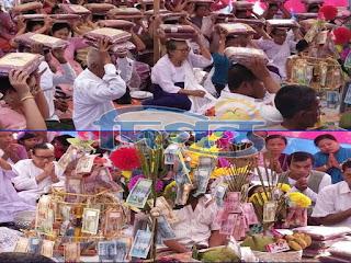 কুয়াকাটায় বৌদ্ধ ধর্মালম্বীদের কঠিন চীবরদান সম্পন্ন