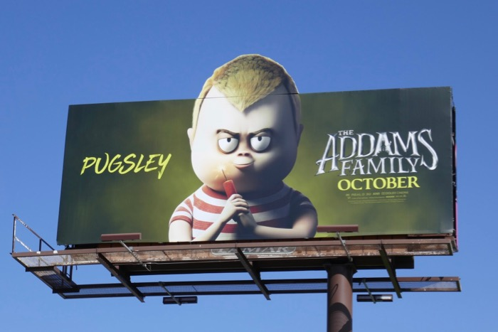 Addams Family Pugsley extension billboard